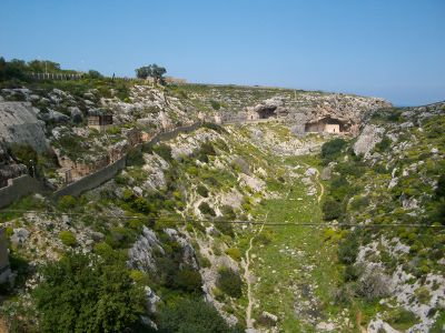 into the valley of death photograph image drawing Victoria Lines Malta
