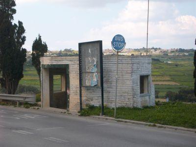 maltese pill box bus stop Victoria Lines Malta
