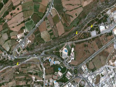 map targa gap mosta public gardens  walking hiking trekking hike route path Victoria Lines Malta