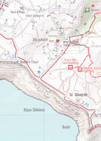 Malta and Gozo Hiking Map walking walks Kompass Maps Author