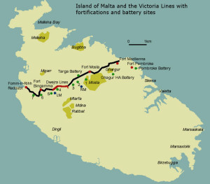 Malta's Victoria Lines walking route maps